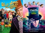 CHARLIE AND THE CHOCOLATE FACTORY BOTH MOVIES