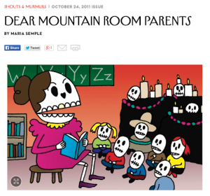 DEAR MOUNTAIN ROOM PARENTS